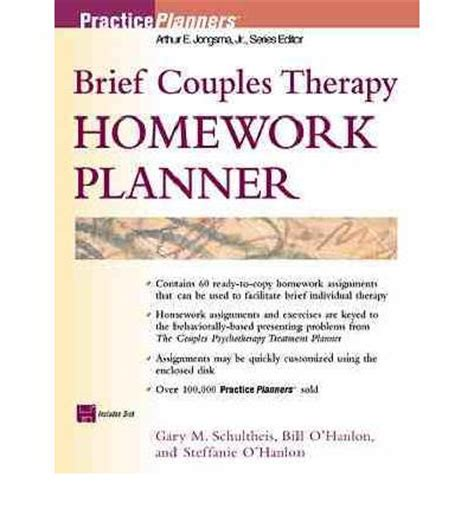 Brief Family Therapy Homework Planner by Brief Couples Therapy Homework Planner Gary M