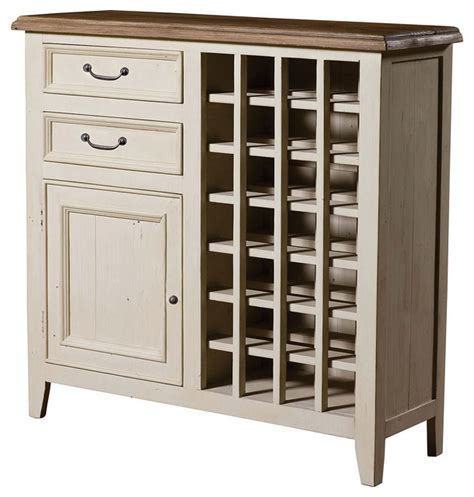 White Bar Cabinet Cottage Wine Cabinet White Style Wine And Bar Cabinets New York By Zin Home