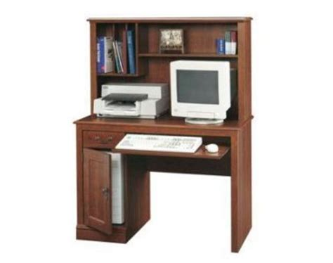 sauder camden county planked cherry computer desk with