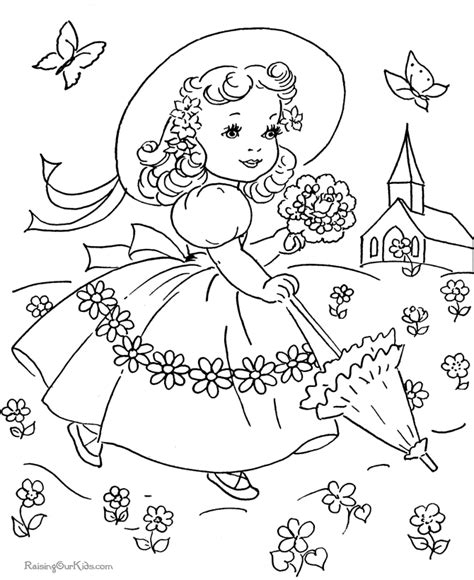 spring coloring pages pinterest