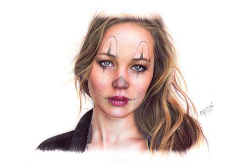 jennifer lawrence tattoo design drawing by adilson silva