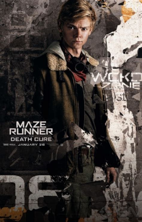 maze runner film newt maze runner the death cure character posters released
