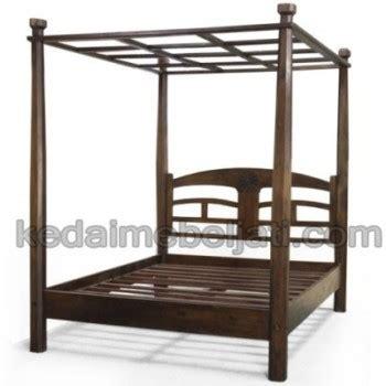 Bedside Kayu Motif Rahwana Meja Kamar Tempat Tidur Jati Tempat Tidur Minimalis Jati Kanopi