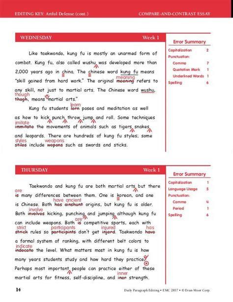 Daily Edit Worksheets by Worksheet Paragraph Editing Worksheets Caytailoc Free Printables Worksheets For Students