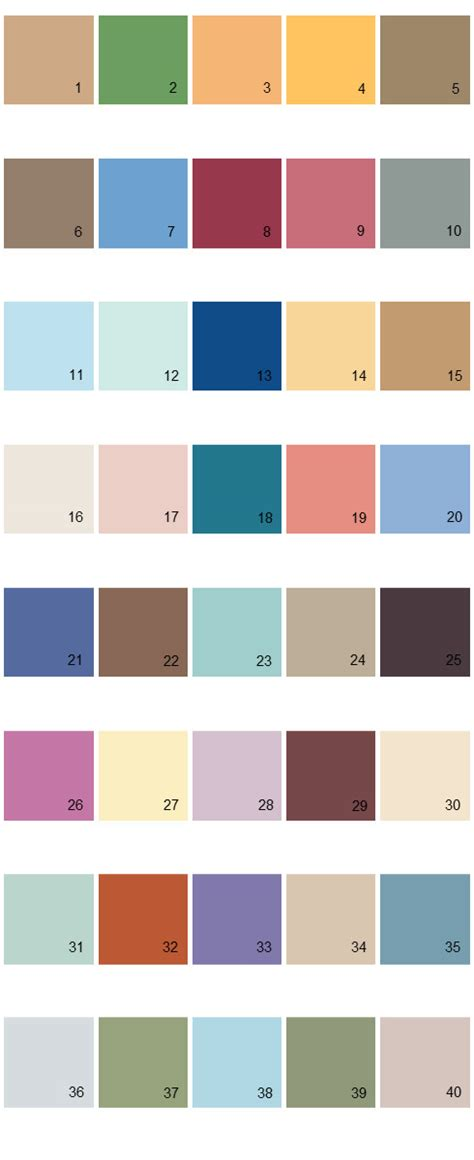 behr paint colors palette 12 house paint colors