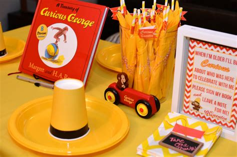 Curious George Decorations by Readers Favorite Curious George Birthday Project