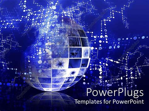 Powerpoint Template Abstract Representation Of Globe Depicting Technical Data Information Information Technology Ppt Templates
