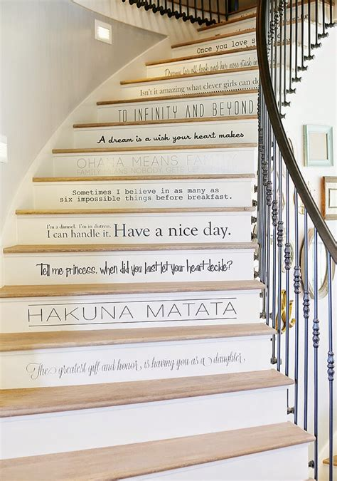 Custom Wall Stickers Words decorative stair risers with designs for all tastes
