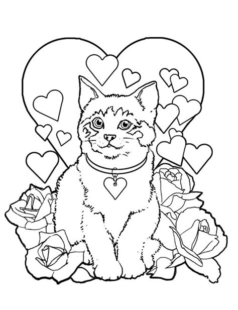 valentines day coloring pages allkidsnetwork com