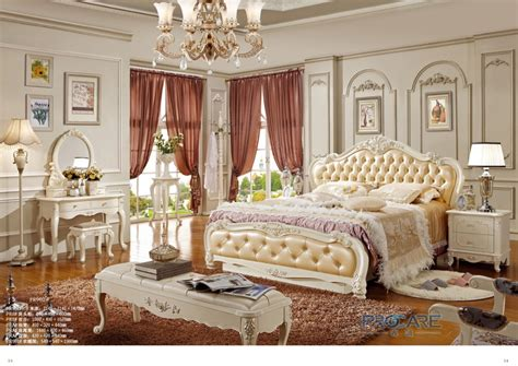 top quality european royal style king size solid wood