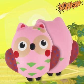daftar harga squishy pink owl squishy burung hantu pink