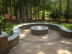 Brick Patio With Fire Pit by Paver Patio Fire Pit Patio Design Ideas
