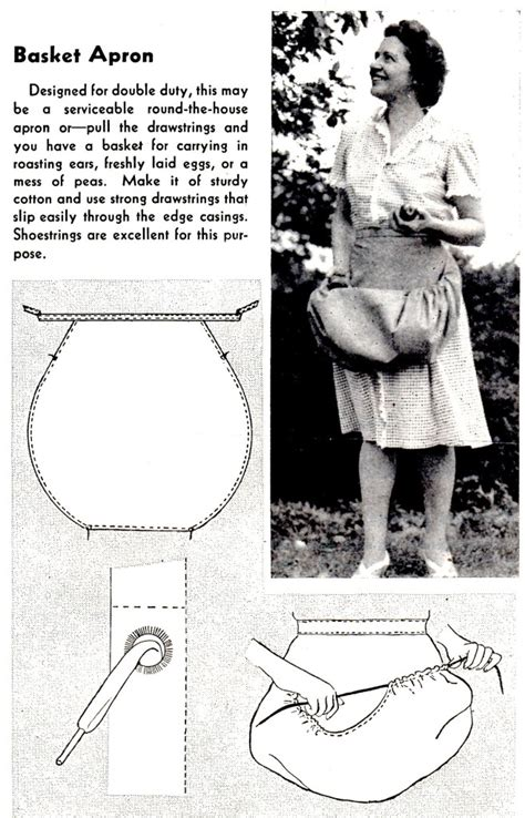 sewing basket apron free basket apron pattern to sew for use in your home and