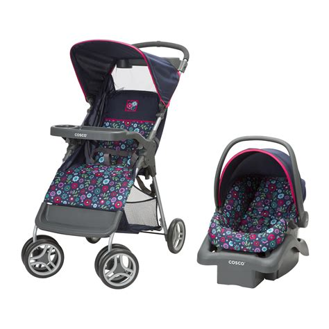 sears stroller car seat combo cosco lift stroll travel system flower garden baby