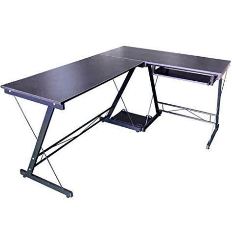 hlc l shaped computer desk with pull out keyboard shelf