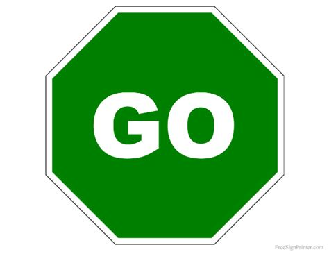 go templates printable go sign