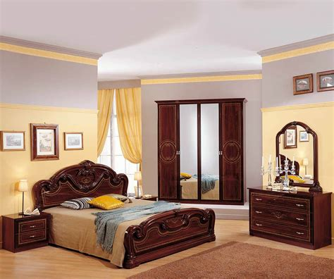 italian bedroom set mcs gioia gioia mahogany finish italian bedroom set