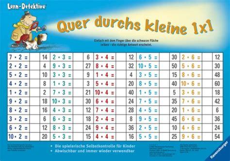 mal tabelle lernen mit der zaubertafel quer durchs kleine 1x1