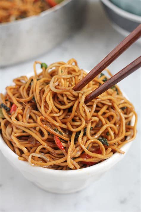 new year vegetarian noodles healthy tasty vegetarian chow mein hip foodie