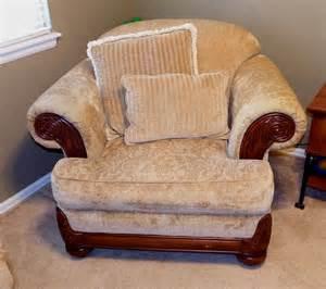 custom brocade upholstered overstuffed armchair with
