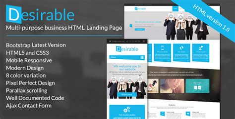 Desirable Business Landing Page Template Wordpress Theme Business Landing Page Template