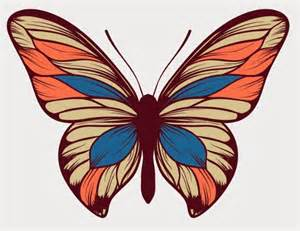 free colorful butterfly vector art titanui