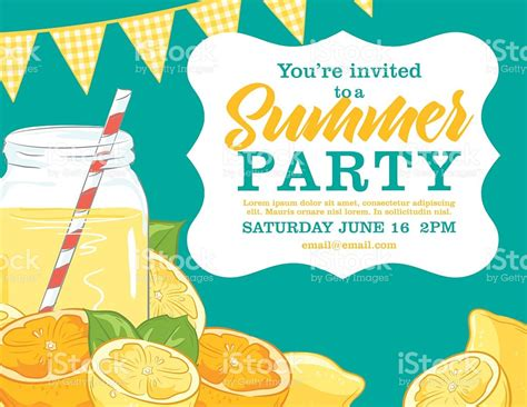summer party summer party invitation templates free infoinvitation co