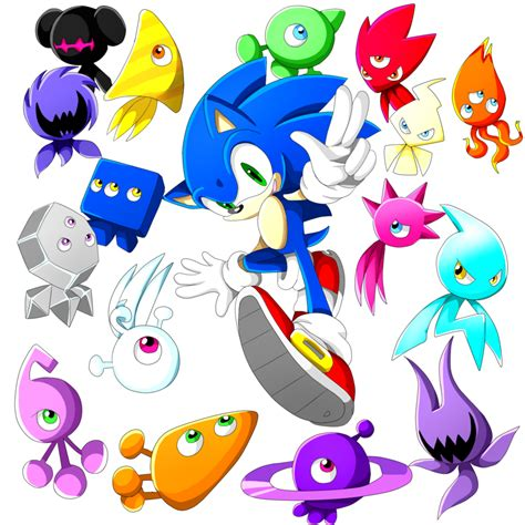 sonic colors sonic sonic and all wisps sonic the hedgehog