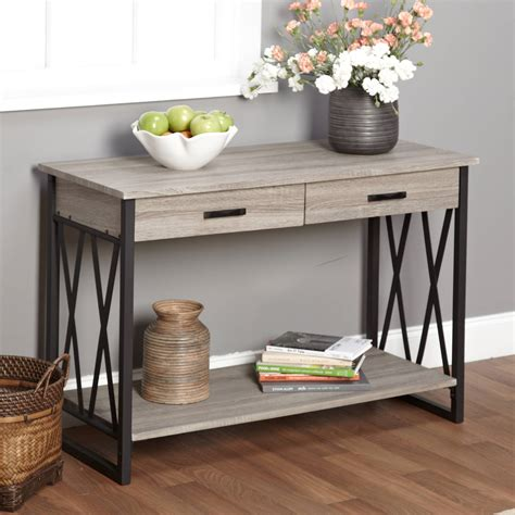 Console Table Living Room Better Homes And Gardens Crossmill Collection Coffee Table Weathered Walmart