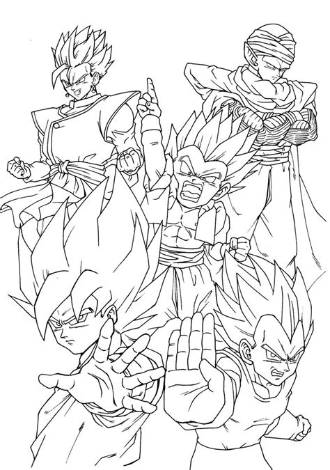 dragon ball z coloring pages pdf dragon ball z coloring pages cartoons art pinterest