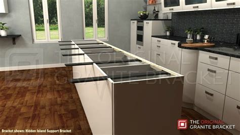 Kitchen Island For Sale by Granite Brackets Hidden Support Brackets Original