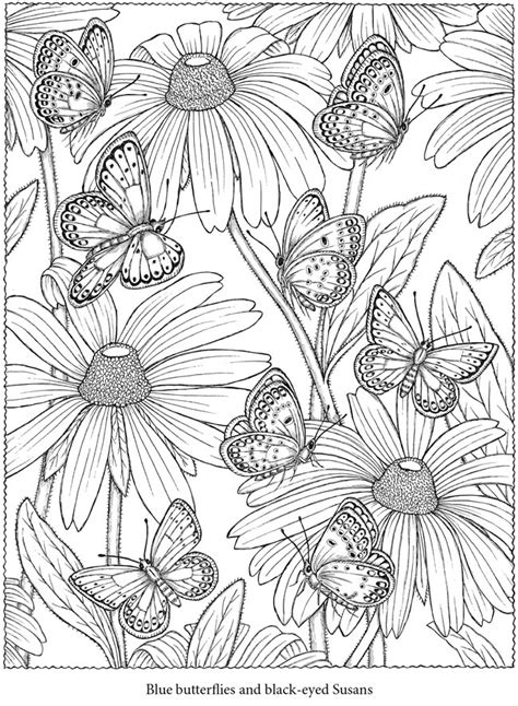 butterfly garden colouring book for adults books welcome to dover publications