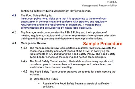 Sqf Manual And Procedures Sqf Templates Free