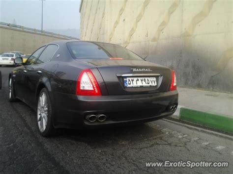 maserati iran maserati quattroporte spotted in tehran iran on 01 01 2013