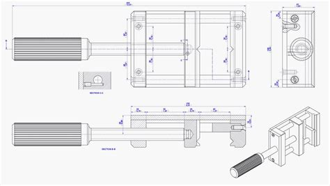 drill press vise plan assembly drawing projects