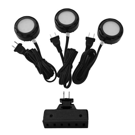 utilitech pro led puck lights shop utilitech pro 3 pack 2 6 in in puck lights at