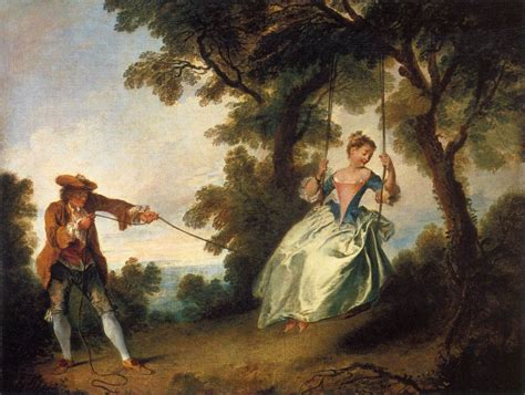 the swing watteau the swing by lancret nicolas