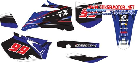 Striping Modifikasi Yamaha Yz 85 striping motor trail yamaha yz 250f stikermotor net