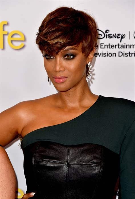 Tyra Banks Emo Bangs   Short Hairstyles Lookbook   StyleBistro