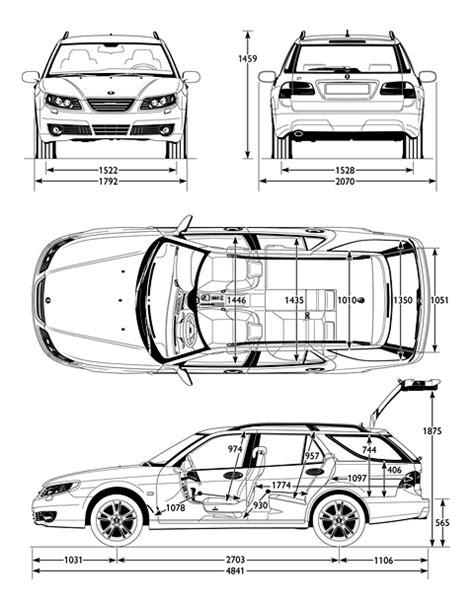 Car Blueprints / Чертежи автомобилей - Saab