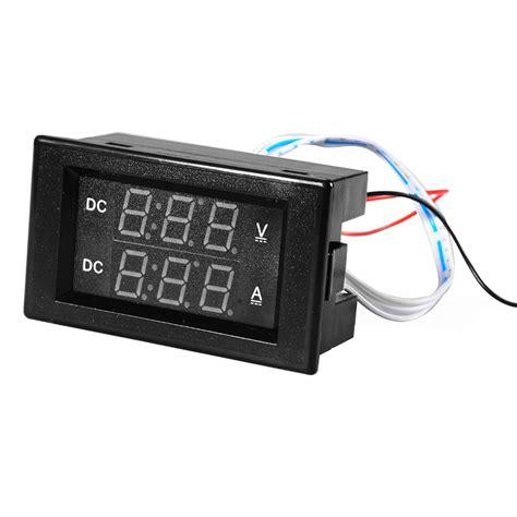 Dual Voltmeter Ermeter Dc 0 100v 50a Led Merah Shunt 5 100v 50a dc digital dual led voltmeter ammeter volt tester meter te525 ebay