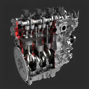 4 Cylinder Engine 4 Cylinder Engine Block Cutaway 3d Model Max Fbx
