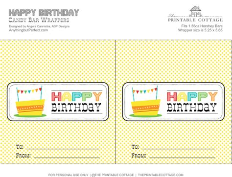 free birthday wrapper template free printable happy birthday bar wrapper