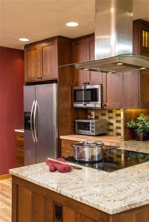 pass through ideas kitchen move stove microwave and add a bend bungalow craftsman kitchen portland by