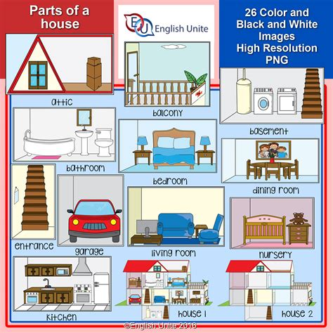 parts house house clipart vocabulary pencil and in color house