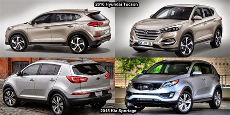 Who Makes Hyundai And Kia 2016 Kia Sportage Vs 2016 Hyundai Tucson In St Jean