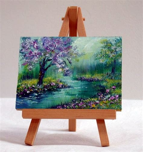 Forest Scene Wall Mural 45 artistic miniature painting ideas