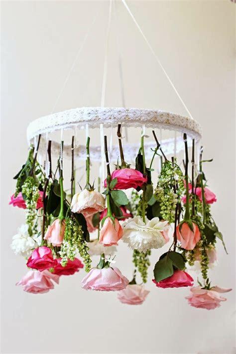 flower chandelier diy flower chandelier pinterest