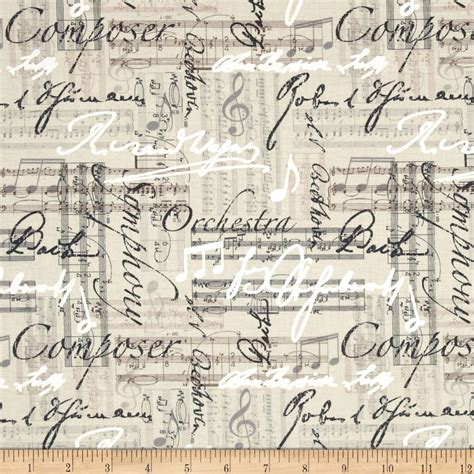 music themed quilting fabric timeless treasures music words linen discount designer