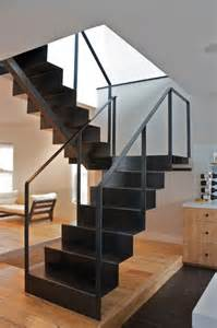 Steel Staircase Design Fold Stair Modern Staircase Chicago By Iron Wire Llc